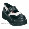 EMILY-302 Black/White Faux Leather